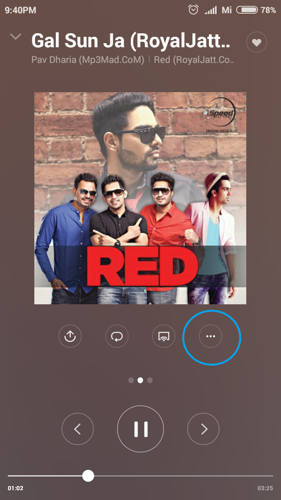 Music App Timer option in Xiaomi MIUI 7