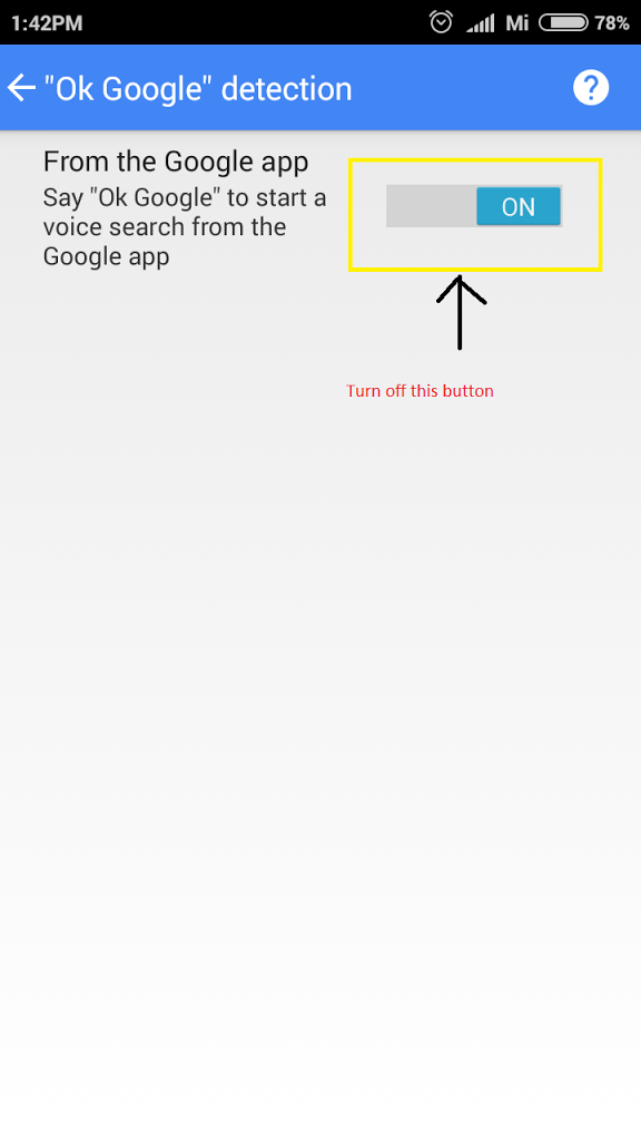Ok google option in redmi2 -Xiaomi redmi2 mic problem