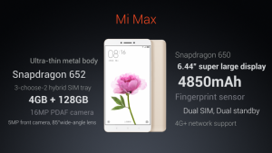 Xiaomi Mi Max Features Launch India