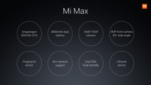 Xiaomi Mi Max Features India Price