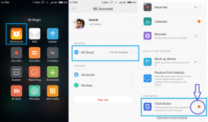 find device setting in xiaomi redmi phones techsarjan