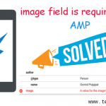 """A value for the image field is required."" AMP Error Solution in WordPress"