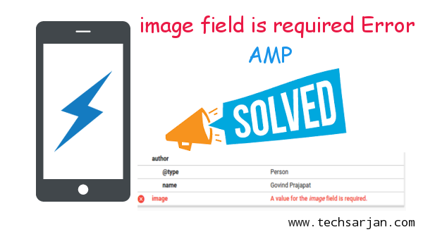 Image field required error solution amp wordpress