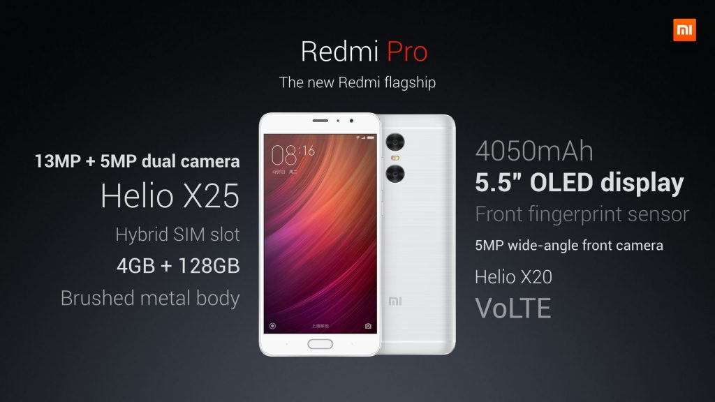 Xiaomi Redmi Pro Full details in one pic