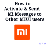 How to Send Free Message via Mi Message Xiaomi
