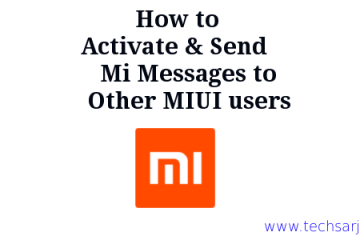 how to Active Mi and Send Mi Message Xiaomi