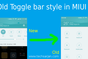 Old toggle bar style in MIUI 8