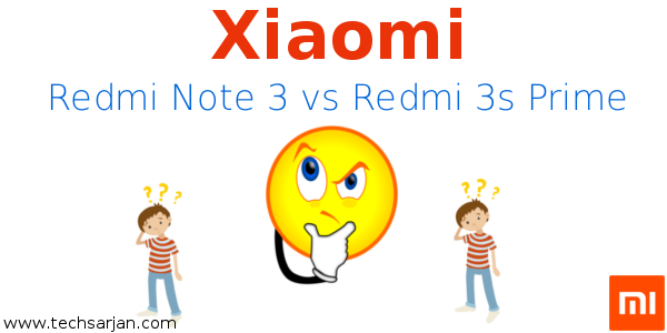 Xiaomi redmi note 3 vs redmi 3s