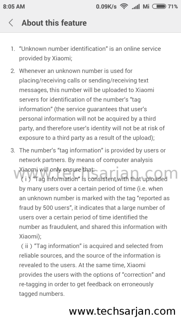 xiaomi-unknown-number-identificaton-function-rules-and-terms