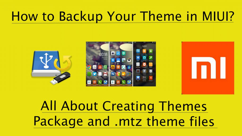 How to Backup Themes in MIUI 7/8 - Xiaomi Phones Redmi & Mi