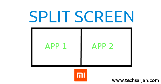 Xiaomi split screen feature - Activation user guide with pictures working process