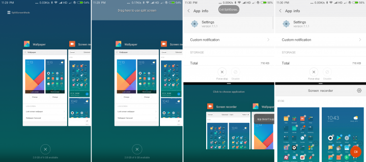 MIUI 9 split screen feature with user guide and instructions