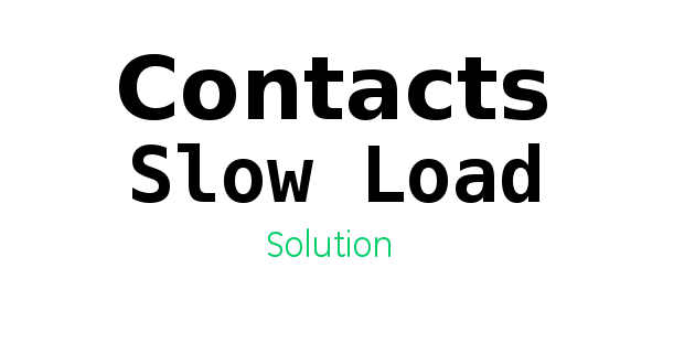 Solution for Contacts Slow Loading Problem MIUI 9 2 4 Stable ROM