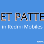 How to Reset Pattern in Redmi Mobiles Xiaomi Android